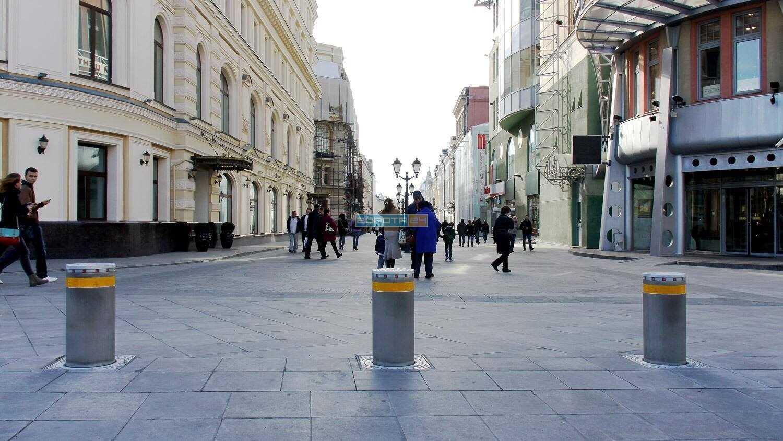 уличные болларды - установка пропускного оборудования