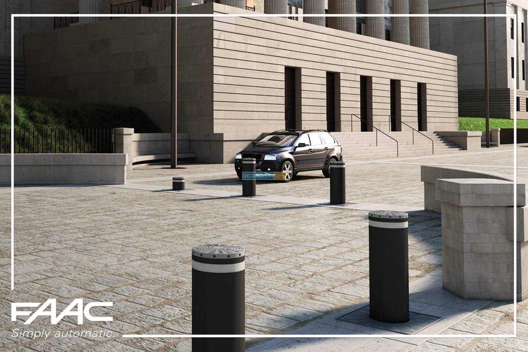 Металлический столб автоматический для парковки и контроля доступа - выдвижные системы FAAC J275 HA V2 Италия