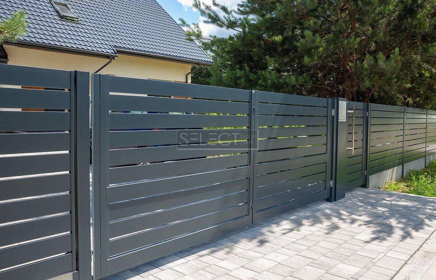 Въездные ворота Селект Лайн с автоматикой - купить заборы современные для частного дома - узнать цены