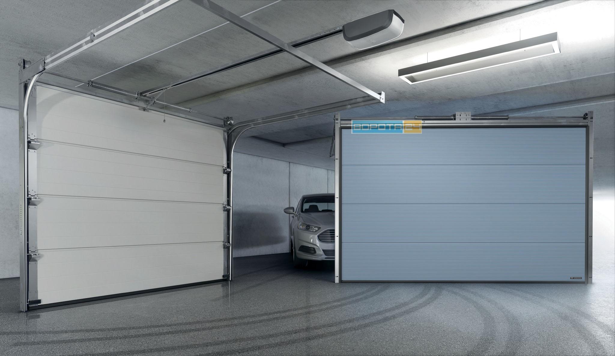 гаражные ворота с автоматикой - установка въездной системы