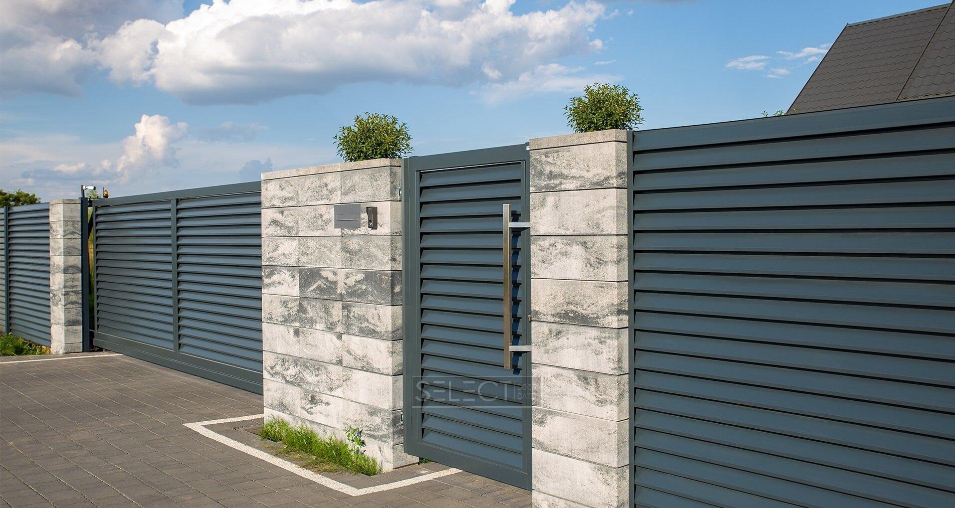 Купить заборные секции для частного дома - металлические ограждения и откатные ворота - Киев