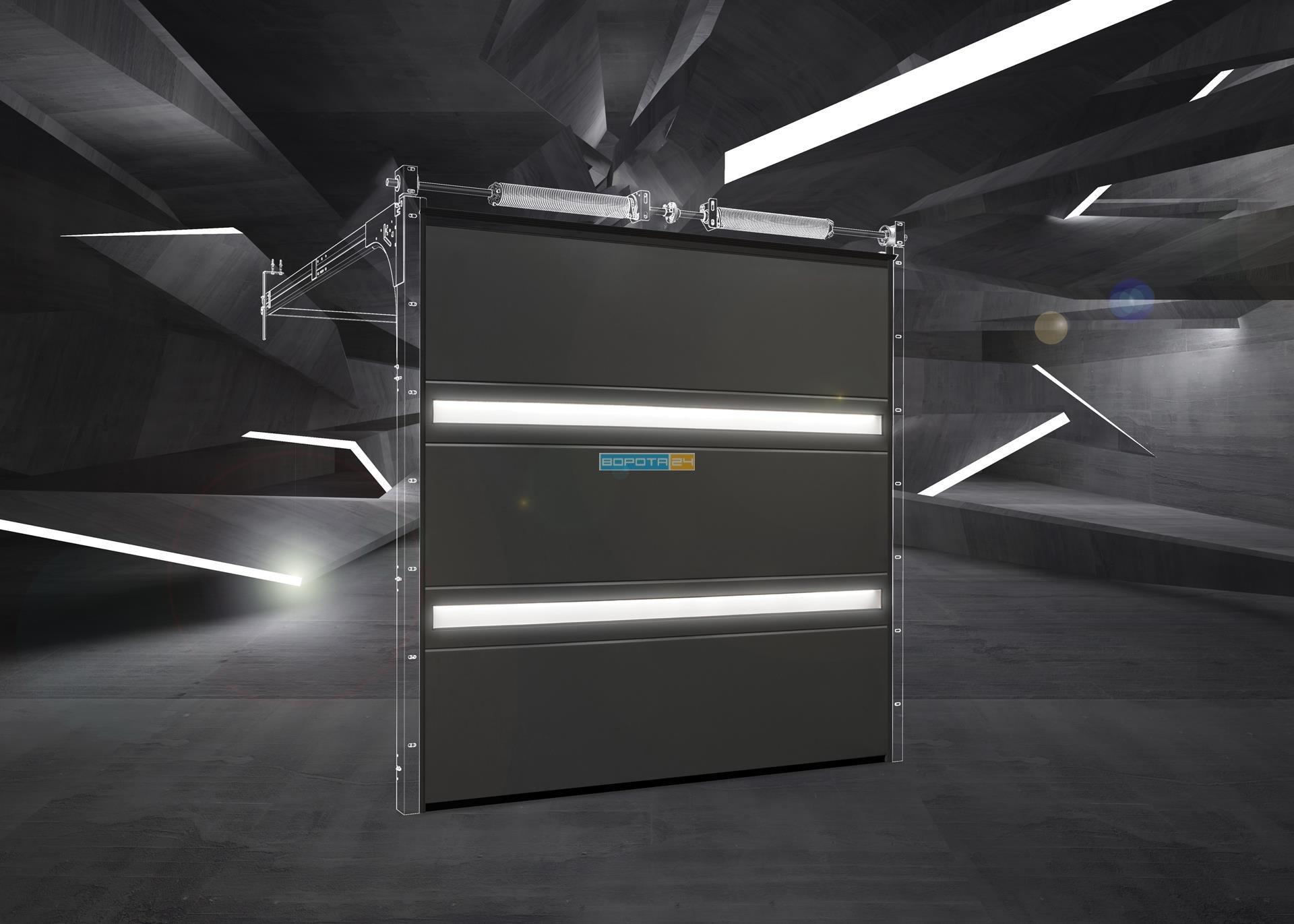 гаражные ворота с автоматикой - изготовление под заказ - киев