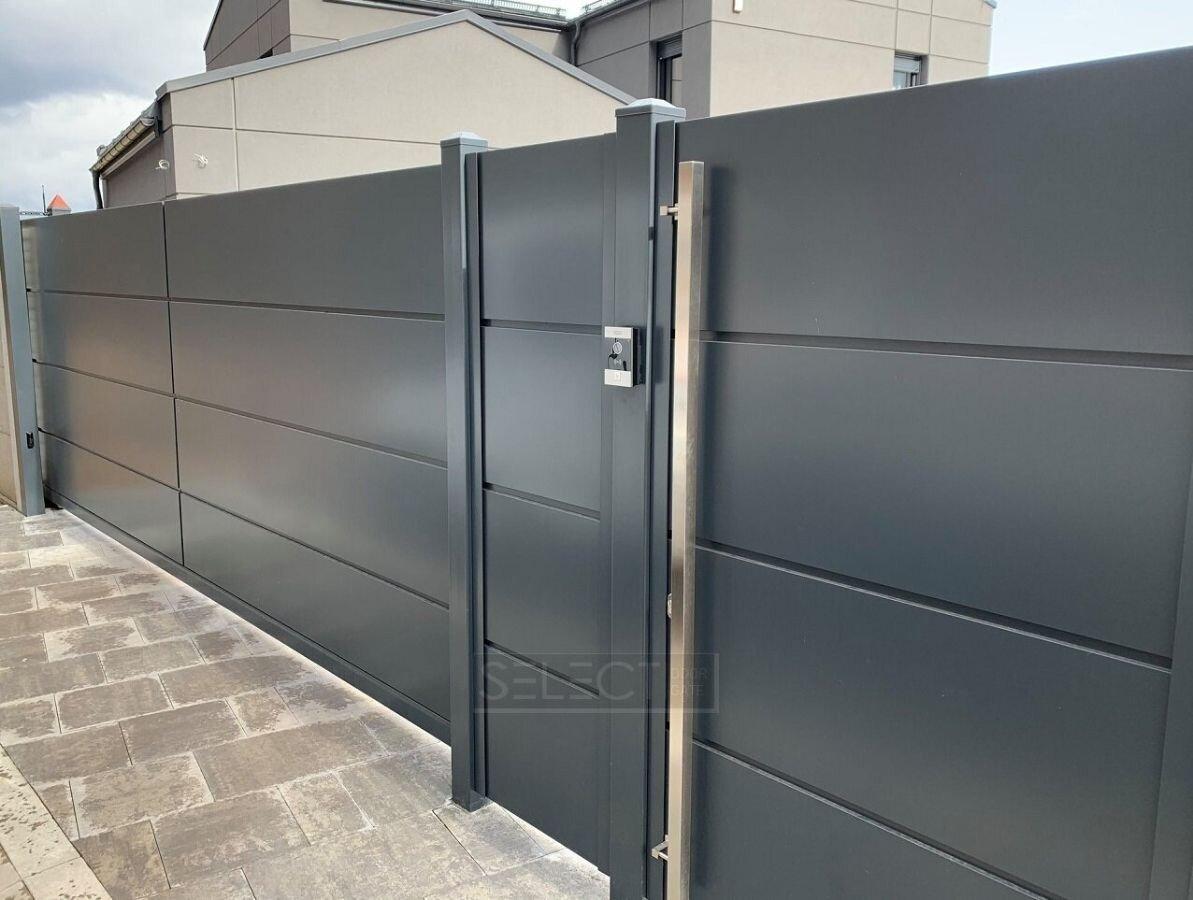Дизайн современных заборов и ворот для частного дома серии SELECT PANEL - Купить - Установка